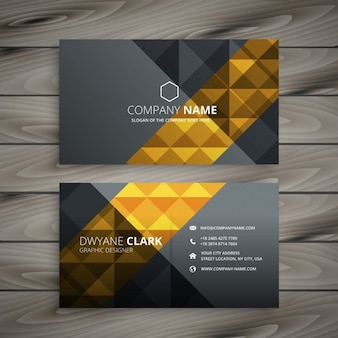 Grey and golden business card