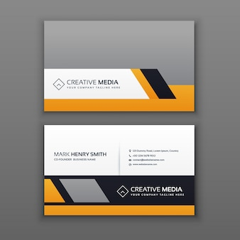 Grey and orange business card template
