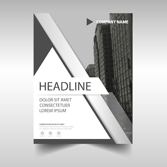 Grey annual report book cover template