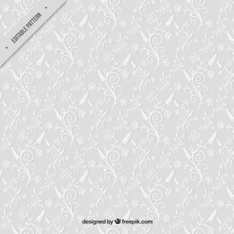 Grey background with ornamental flowers