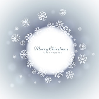 Grey christmas card with snowflakes