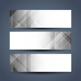 Grey color elegant banners