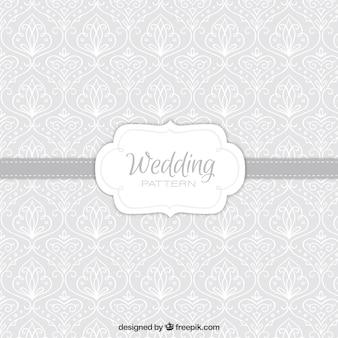 Grey decorative wedding pattern