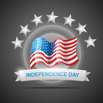 Grey independence day illustration