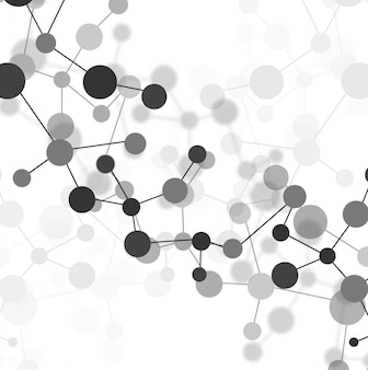 Grey molecules background
