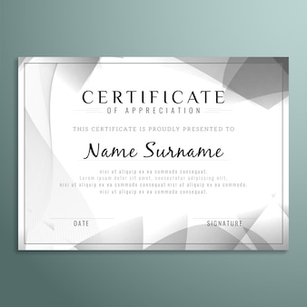 Grey polygonal certificate design