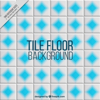 Grey tile with blue rhombus