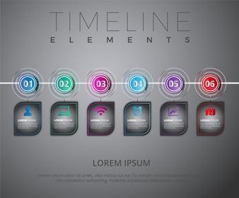 Grey timeline elements