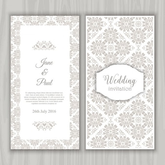 Grey Vintage Wedding Invitation