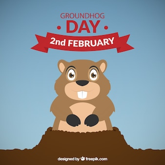 Lovely happy groundhog day background Vector  Free Download