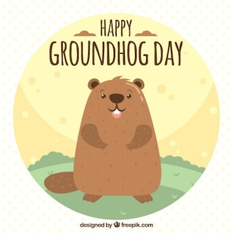 Grounghog day illustration