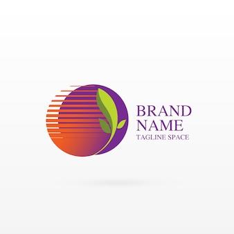 Growing leaf logo concept