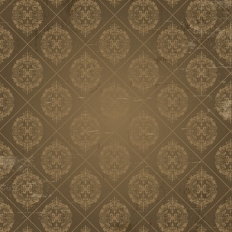 Grunge background with ornamental decoration