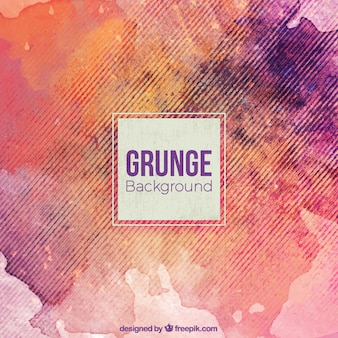 Grunge background with watercolor stains