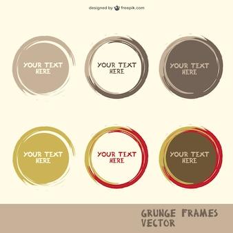 Grunge circle frames