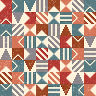 Grunge geometric background or seamless pattern