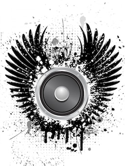 Grunge music speaker background