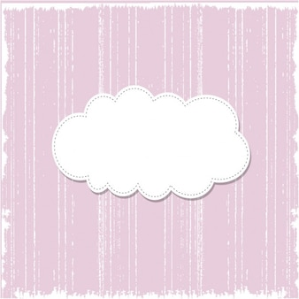 Grunge pink background with speech bubble