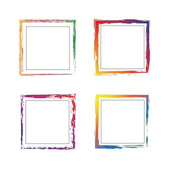 Grunge Square Colorful Frames