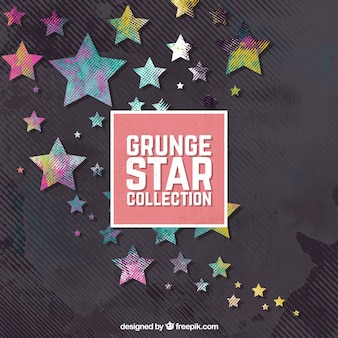 Grunge stars with dark background