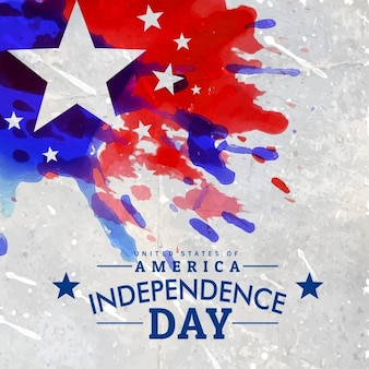 Grunge style american independence day background
