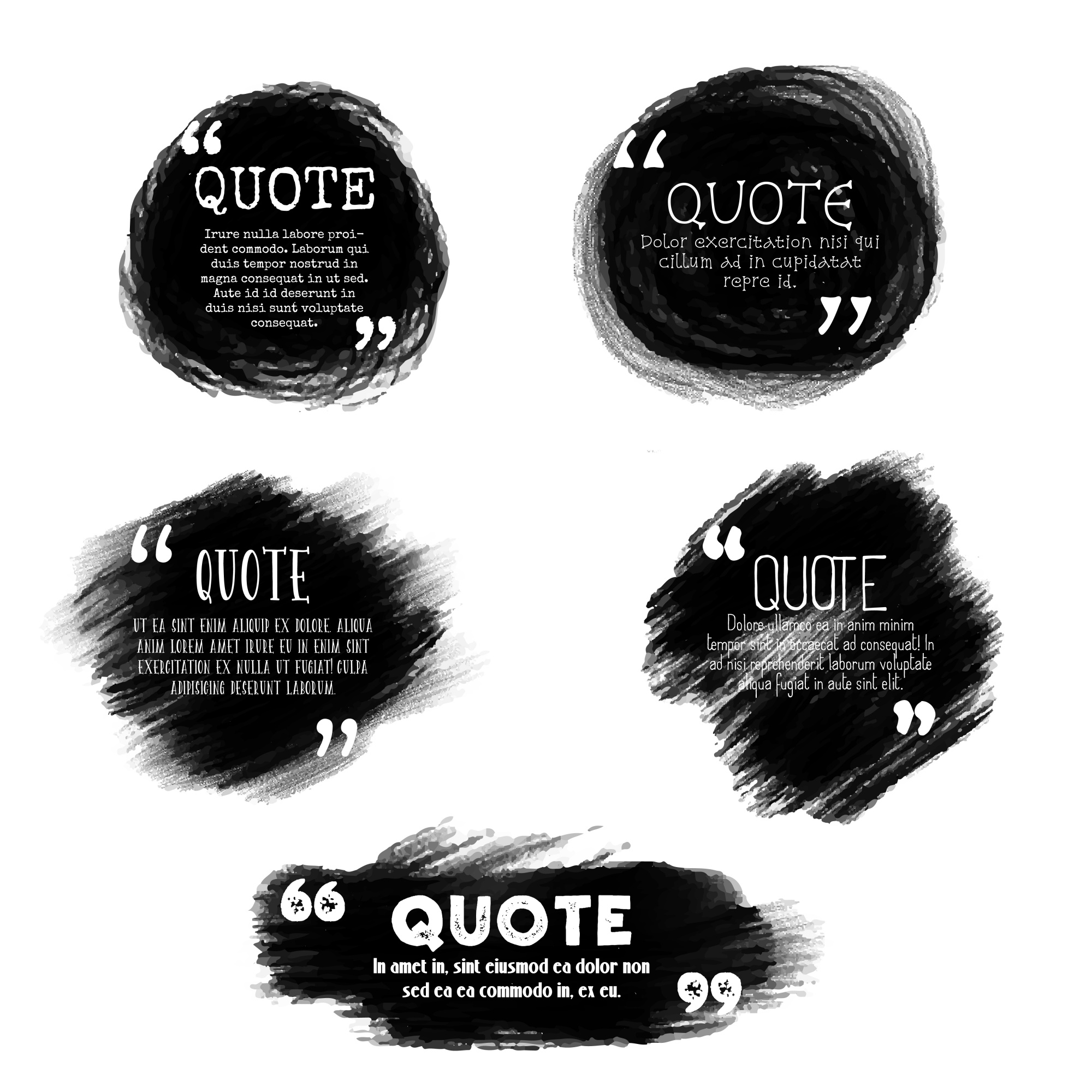 Grunge style quotation templates