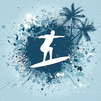 Grunge textured surf background