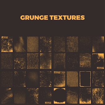 Grunge textures collection
