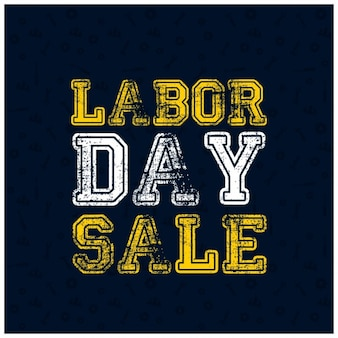 Grunge typography labor day sale poster