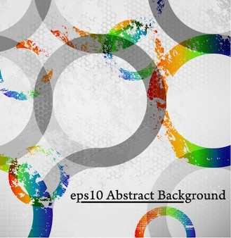 grungy circles dotted background vector