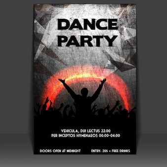 Grungy party poster design