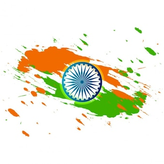 Grungy tricolor republic day card