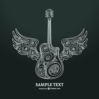 Guitar art vector illustration