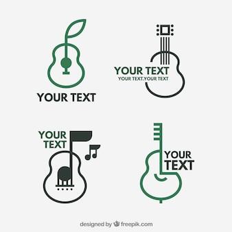 Guitar logo collection pear desig