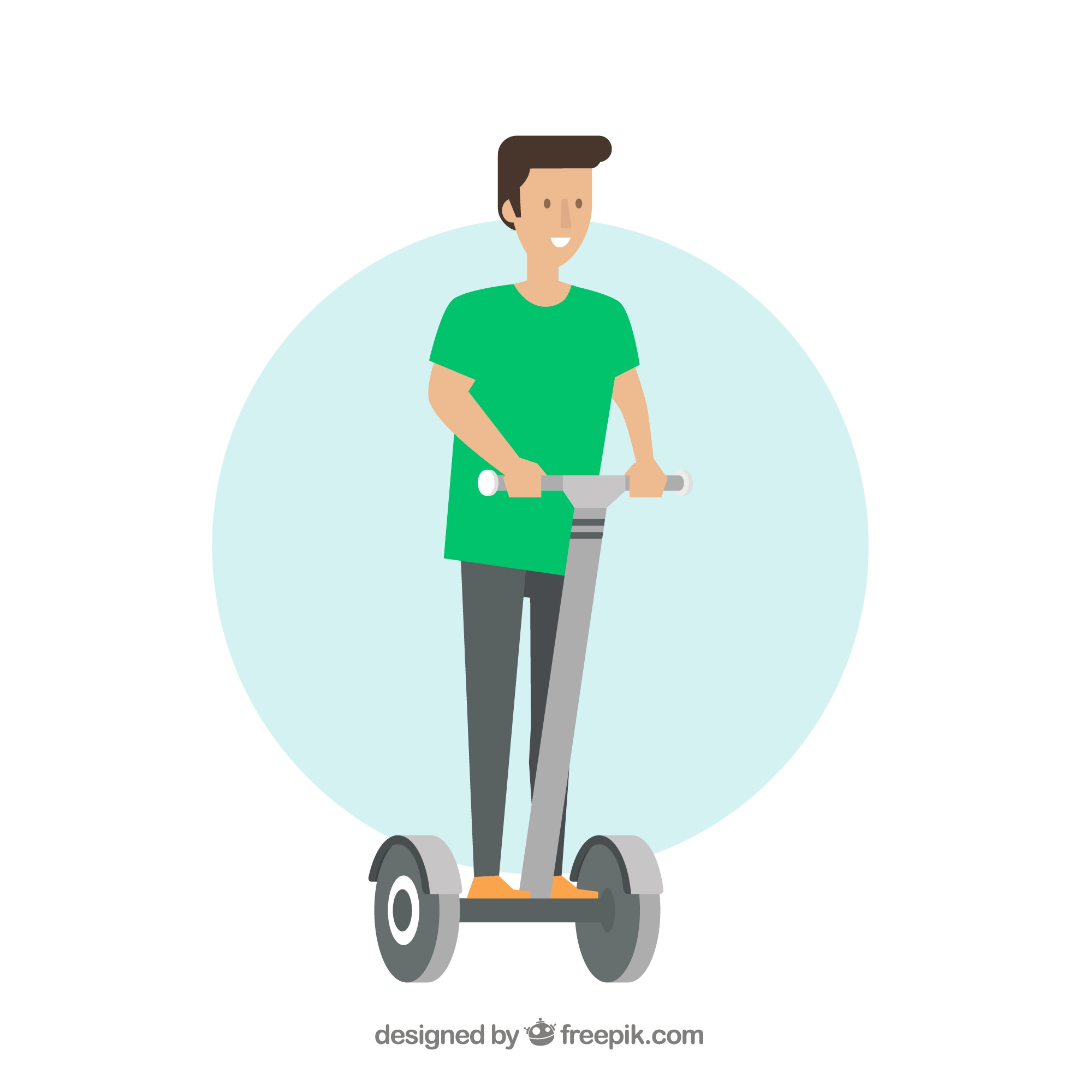 Guy on electric scooter