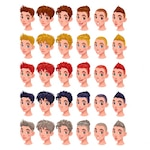 Hairstyles for cartoon characters
