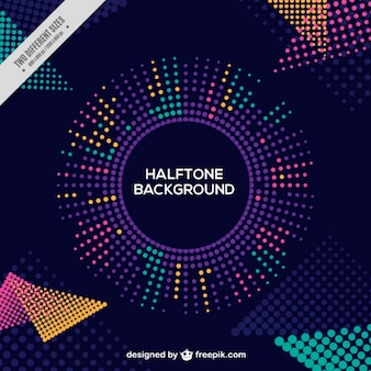 Halftone abstract creative background