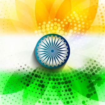 Halftone background of Indian flag