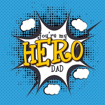 Halftone father's day background in comic style