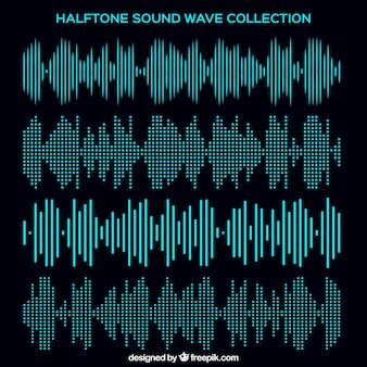 Halftone sound wave collection