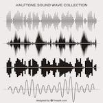 Halftone sound wave set