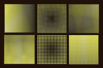 Halftone squares collection