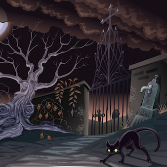 Halloween background design