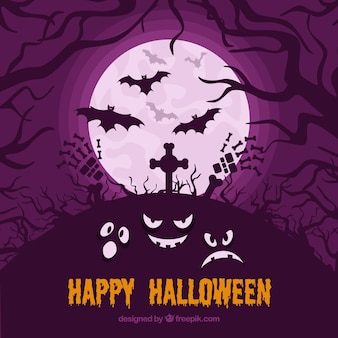 Halloween background with creepy style