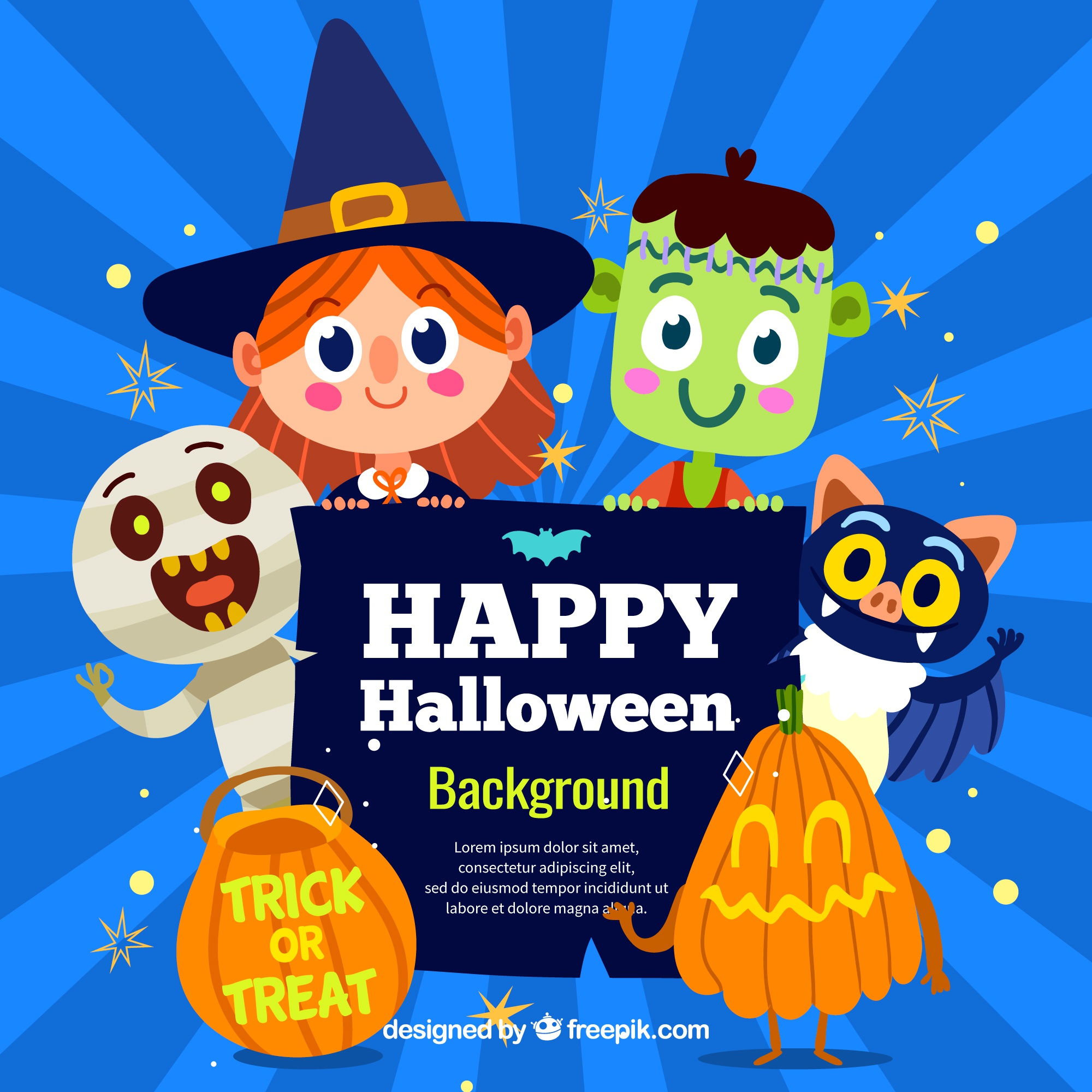 halloween background with lovely costumes - Halloween Background Images Free