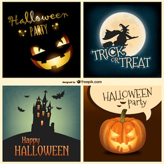 Halloween backgrounds collection