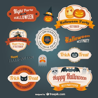 Halloween badges pack