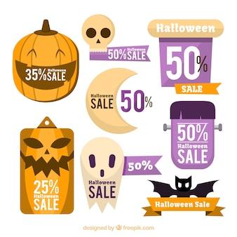 Halloween badges with discounts