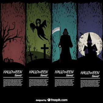 Halloween banner templates pack