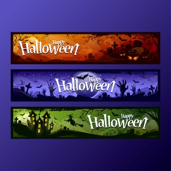 Halloween banners collection